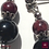 Thumbnail: Alchimie - SET Necklace & Earrings. Galvanized Agate, Granat & Onyx.
