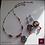 Thumbnail: Nocturno -  SET Necklace & Earrings. Aquamarine, Coral, Hematite, Handmade Beads