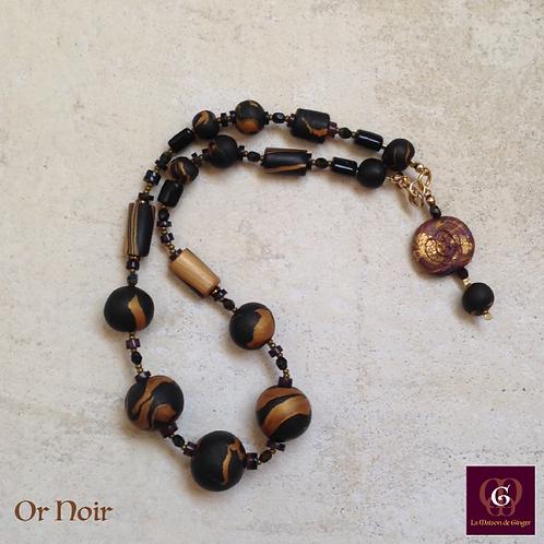 Or Noir. Necklace. Handmade beads by La Maison de Ginger