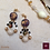 Thumbnail: Fossile - SET earrings & 3 necklaces. Chrysanthemum Stones, handmade beads