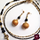 Thumbnail: Ma'at - SET Earrings & 2 necklaces. Volcanic Stones, Agate, Brass...