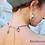 Thumbnail: Amalasuntha - SET Necklace & Earrings - Agate, Tiffany Stone & Handmade Beads