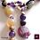 Thumbnail: Tiamat - Set earrings & necklace. Amathyste, Calcite, Tigereye, Rose Quartz...