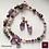 Thumbnail: Melusine - SET earrings & necklace. Amathyste, Pearls, Rose Quartz