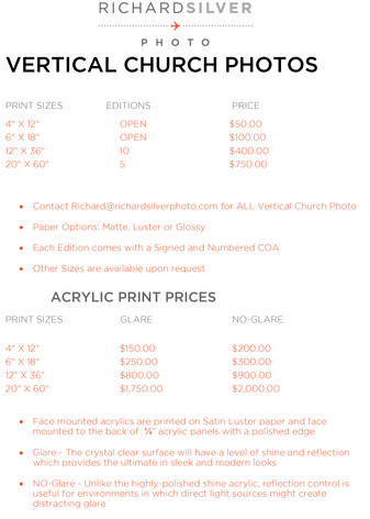 Vertical Church Prices