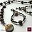 Thumbnail: Minette - SET Necklace & Earrings. Galvanized Agate & Pyrite.