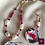 Thumbnail: Vol de Mousquataire -  SET Necklace & Earrings. Pearls, Jade, handmade beads