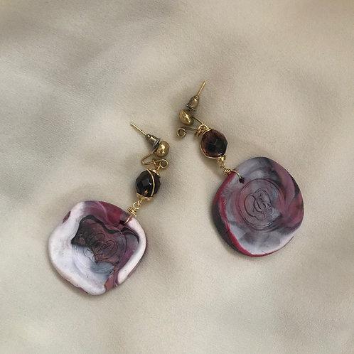 Mirage. Earrings. Handmade elements by La Maison de Ginger
