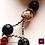 Thumbnail: Ma Fleur Mystique. Earrings. White Scolecite, Granat, Dragon Blood & Sapphire