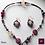 Thumbnail: Rose - SET Earrings & necklace. Amethyste, Labradorite, Agate, Tigereye, Citrine