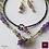 Thumbnail: Vigne -  SET Double-Necklace & Earrings. Amethyste, Olive Quartz