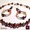 Thumbnail: Shalimar - SET. 3 Necklaces & Earrings. Burned Agate, Agate & Carneol
