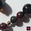 Thumbnail: Sangue Bleu - SET Earrings - Necklace. Granat, Labradorite & Agate