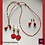 Thumbnail: Correspondance - SET 2 pairs of earrings & necklace.