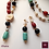 Thumbnail: Maroc - Turquoise, Coral, Onyx, African Beads