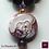 Thumbnail: La Nascita di Venere- SET Earrings & 2 necklaces. Coral, Amethyste, Granat