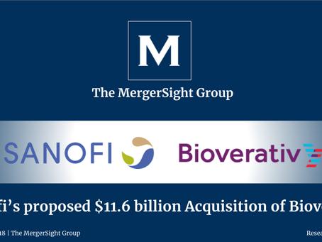 Sanofi's proposed $11.6 billion Acquisition of Bioverativ
