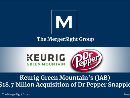 Keurig Green Mountain's (JAB) $18.7 billion Acquisition of Dr Pepper Snapple