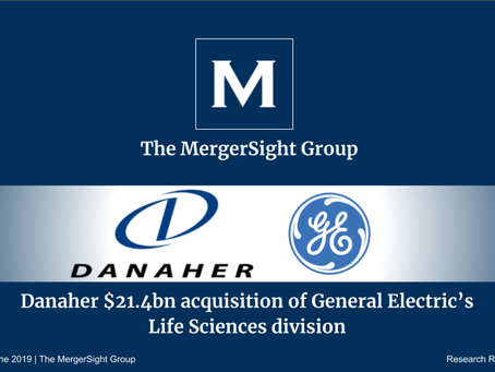 Danaher $21.4bn acquisition of General Electric's Life Sciences division
