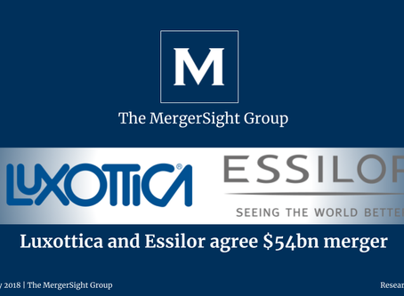 Luxottica and Essilor agree $54bn merger