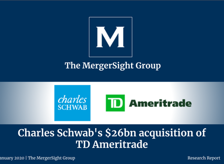 Charles Schwab's $26bn acquisition of  TD Ameritrade