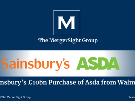 Sainsbury's £10bn Purchase of Asda from Walmart