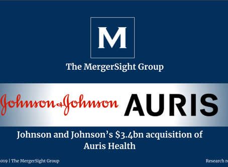 Johnson and Johnson's $3.4bn acquisition of Auris Health