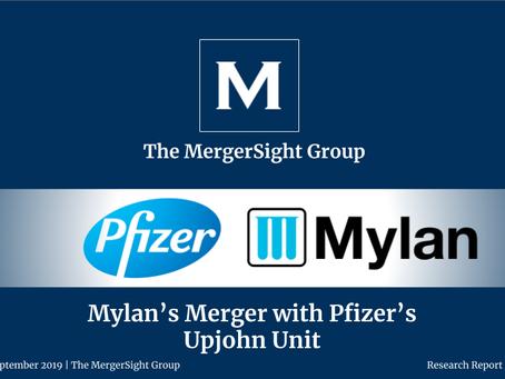 Mylan's Merger with Pfizer's  Upjohn Unit