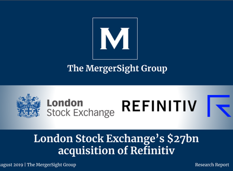 London Stock Exchange's $27bn acquisition of Refinitiv