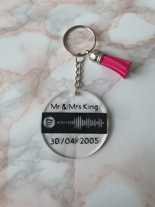 Personalised Scannable Spotify Code Keyring