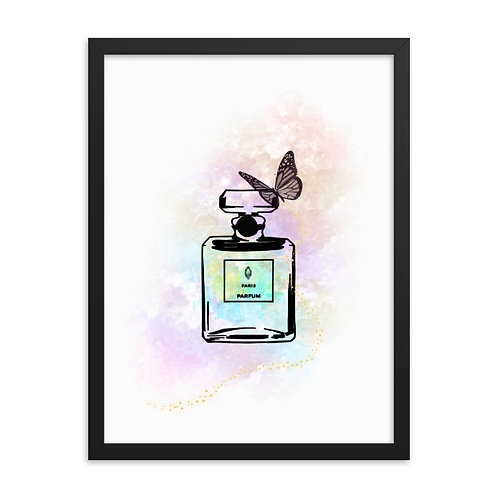 Pastel Perfume & Butterfly Art Framed Print (From £39.99)