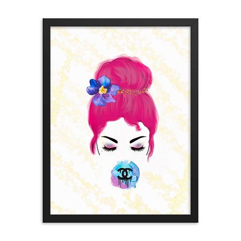 Designer Bubble Gum Framed Print