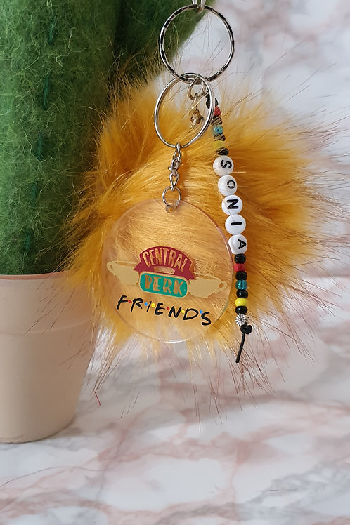Personalised Friends Central Perk Acrylic Keyring