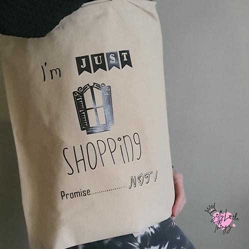 100% Cotton Natural Slogan Tote Bag (personalise Option)