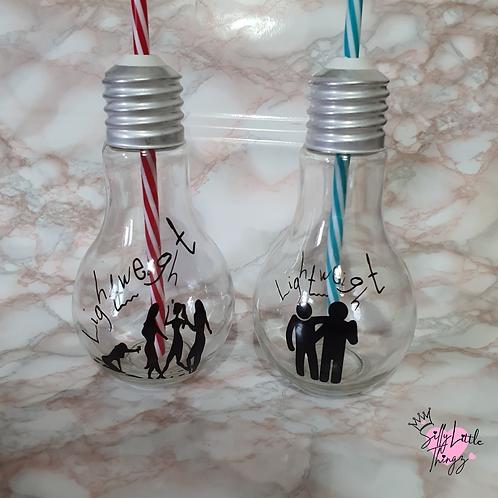 Light Bulb Drinks Bottle - Lightweight Slogan