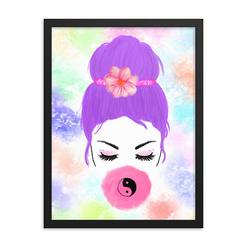 Yin Yang Bubble Gum Framed Print (From £39.99)