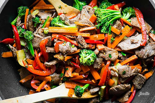 Beef Vegetable Stir Fry/ vegan option