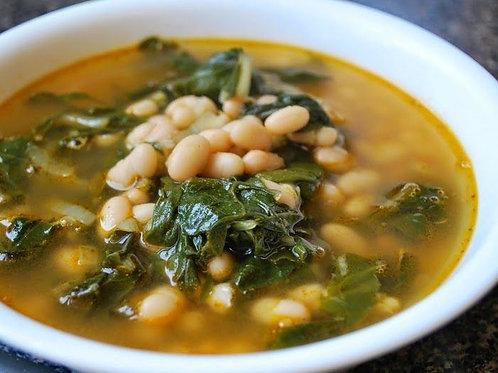Italian Beans & Greens Soup - vegan