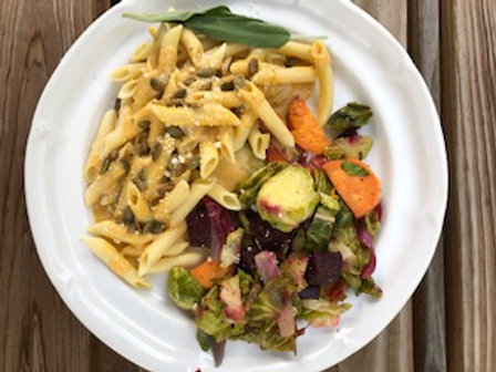 Fall Pumpkin Sage Pasta with Roasted vegetables