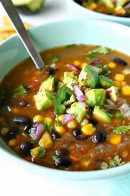 Black Bean and Corn Soup - vegan