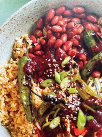 Adzuki bean and brown rice bowl - vegan