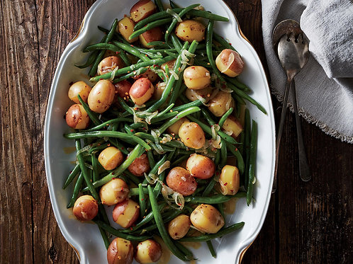 Green Beans with roasted potatoes - vegan