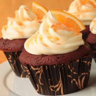 Chocolate Cupcakes with Orange Frosting