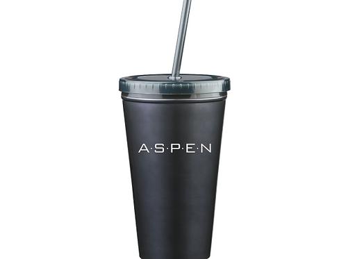 ASPEN logo 16 oz. Stainless Steel Double Wall Tumbler