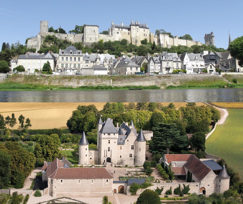 Châteaux de Chinon et du Rivau (4 pers)