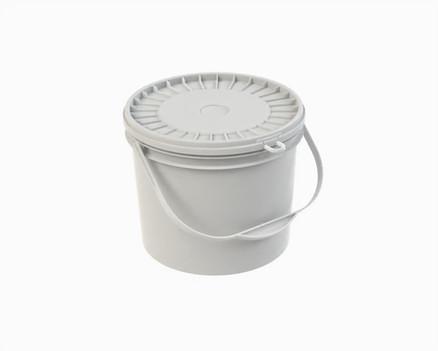 דלי פלסטיק 10 ל' עגול לבן