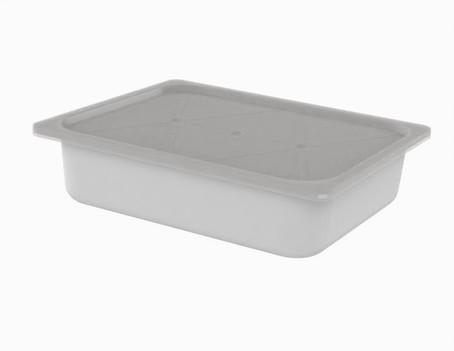 קופסא 5 ל' 1/2 גסטרונום מלבנית
