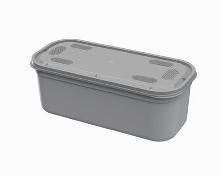 קופסא 5 ל' 'נירוסטה' מלבנית