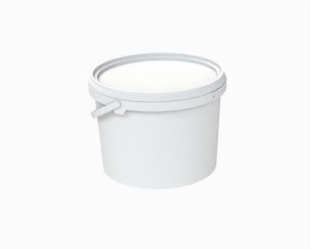 דלי פלסטיק 2.46 ל' עגול לבן ז.פ.