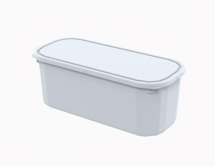 קופסא 5 ל' מלבנית לבנה